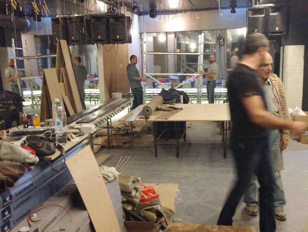 Комеди Клуб София по време на ремонта преди откриването
